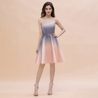 Charming Sweetheart Gradient A-Linie Short Evening Party Kleid_1