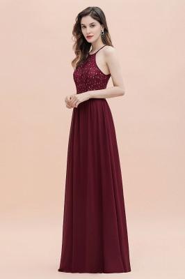 Robe de soirée trapèze licou en mousseline de soie robe longue de soirée élégante_14