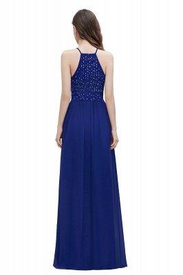 Вечернее платье трапециевидной формы с пайетками на шее, элегантное шифоновое вечернее платье макси_11