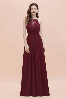 Straps Bateau A-line Sequins Evening Maxi Dress Elegant Chiffon Prom Dress