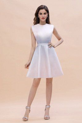 Elegant Gradient A-line Daily Casual Mini Dress Sleeveless Evening Party Dress