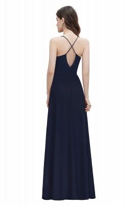 Straps Bateau A-line Sequins Evening Maxi Dress Elegant Chiffon Prom Dress_13