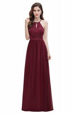 Вечернее платье трапециевидной формы с пайетками на шее, элегантное шифоновое вечернее платье макси_1