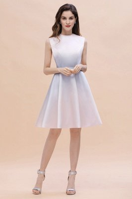 Elegant Gradient A-line Daily Casual Mini Dress Sleeveless Evening Party Dress_6