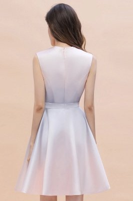 Elegant Gradient A-line Daily Casual Mini Dress Sleeveless Evening Party Dress_9
