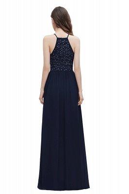 Вечернее платье трапециевидной формы с пайетками на шее, элегантное шифоновое вечернее платье макси_3
