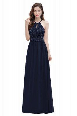 Вечернее платье трапециевидной формы с пайетками на шее, элегантное шифоновое вечернее платье макси_12