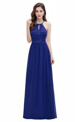 Вечернее платье трапециевидной формы с пайетками на шее, элегантное шифоновое вечернее платье макси_2