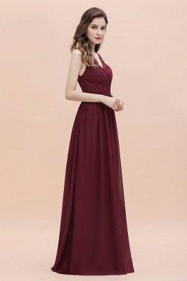 Vestido de noite de chiffon com decote em A maxi vestido sem mangas dama de honra vestido de noiva_6