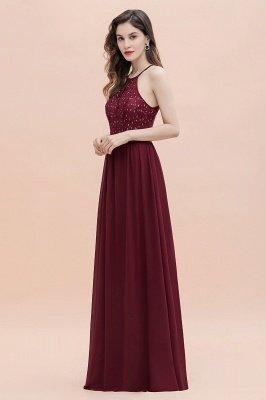 Vestido largo de fiesta elegante de gasa con cuello halter y lentejuelas_14