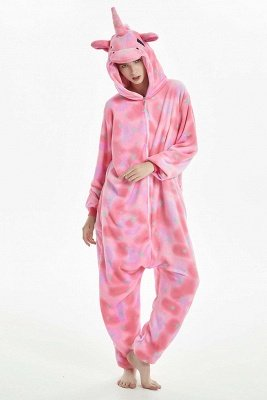 New Winter Kigurumi Women Adult Cute Cartoon Onesies Animal Pajamas Stitch Colorful Star Pattern Nightie Sleepwear