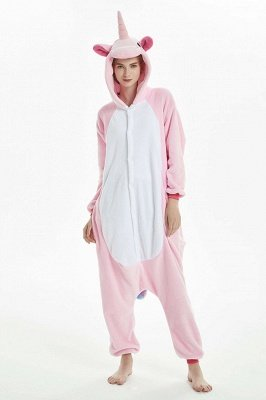 Pink And White Nightie Women Winter Pijama Warm Pegasus Home Wearing Clothes Sleepwear Cartoon Onesies