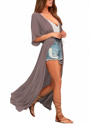 Women Beach Cover Up Lace Bandage Maxi Cardigan Tunic Bikini Swimsuit_5