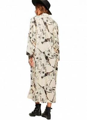 Kimono mince à imprimé floral ouvert devant pour femmes_4