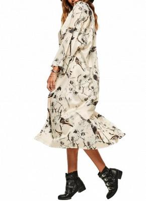 Kimono mince à imprimé floral ouvert devant pour femmes_3