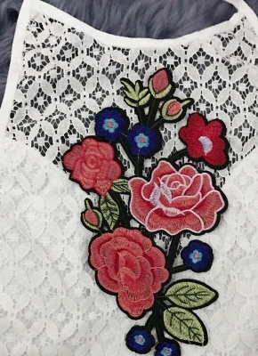 Sexy Floral Embroidery Halter Backless Tank Top Cami Bustier Tank Top_5