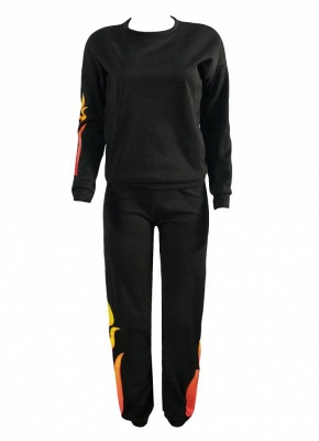 Sweat Suits Trousers Casual Two Pieces_3