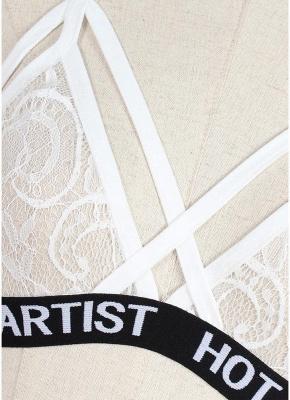 Lingerie Femme Ensemble Bustier Bralette Cage Erotic Lace Ensemble de deux pièces_8