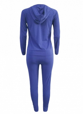 Women Tracksuit Set Letter Print Hoodie & Pants Sweat Suits Casual Two Piece_6