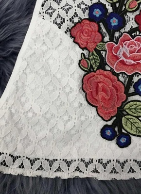 Sexy Floral Embroidery Halter Backless Tank Top Cami Bustier Tank Top_6