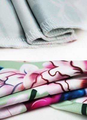 Plissado de impressão floral fora o ombro Backless moda feminina conjunto de duas peças_7
