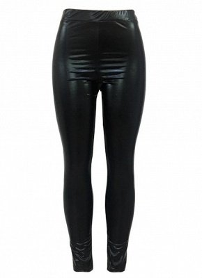 Shiny Metallic Color Elastic Waist Skinny Sexy Pencil Pants_9