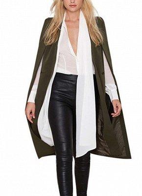 Automne Femmes Manteau Long Blazer Manteau Cape Cardigan Veste Bureau Slim OL Costume Casual Solide_4