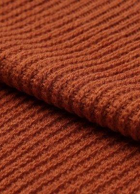 Col rayé bandage croix cravate pull tricoté_8