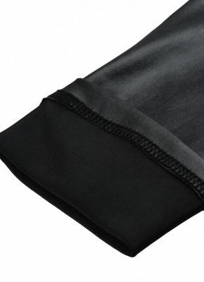 Crianças Meninas Stretchy PU Couro Elástico Na Cintura Calças Skinny Calças Pretas_10