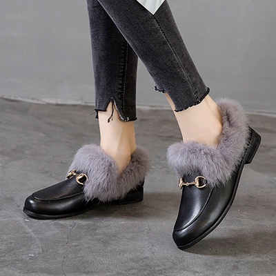 Chunky Heel Round Toe Casual Loafers_2
