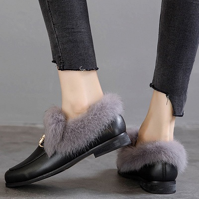 Chunky Heel Round Toe Casual Loafers_5