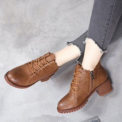 Короткие каблуки с застежкой-молнией_5