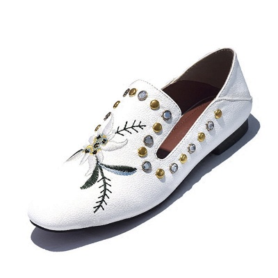 Beading Flat Heel PU Summer Daily Loafer