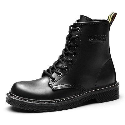 Talon épais bottes à lacets_4