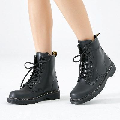 Talon épais bottes à lacets_1