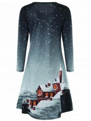 Weihnachten Plus Size Graphic Long Sleeve T-Shirt_3
