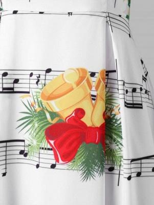 Cloche de Noël et robe imprimée note de musique_7