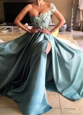 Glamouröse Spitzen Abendkleider Eine Schulter | Sexy Abendkleider Bodenlang_1