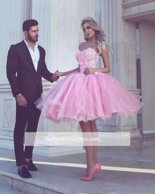Розовое бальное платье с коротким рукавом и длинными рукавами_1