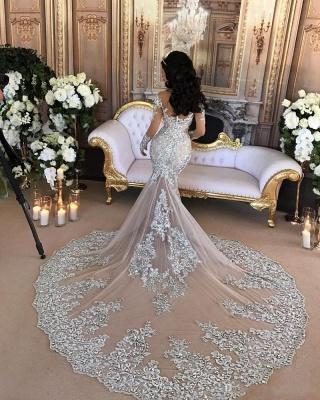 Luxury Brautkleider Mit Ärmel Meerjungfrau Hochzeitskleider Günstig Online Kaufen_2