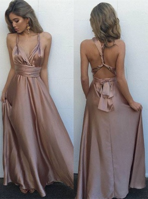 Gorgeous Sleeveless V-Neck Long Floor-Length Prom Dress