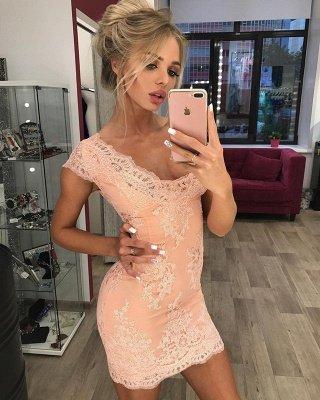 Stunning Cap Sleeve Lace Detachable Short Prom Dress Homecoming Dress BA7167_4