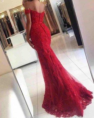 Elegante Abendkleider Lang Rot | Spitze Abendkleid Online Günstig_6