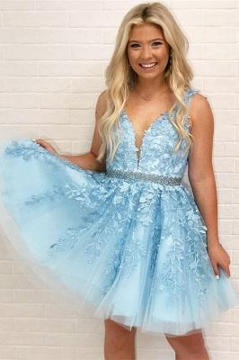 Schöne Abendkleider Blau Herz Förmig | Elegante Abikleider A-Linie_1