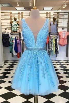 Schöne Abendkleider Blau Herz Förmig | Elegante Abikleider A-Linie_3