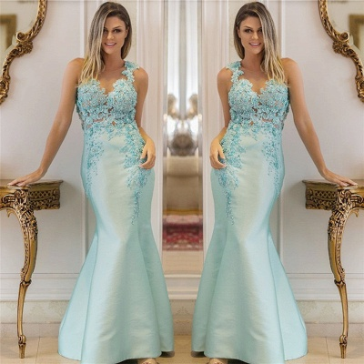Straps Beading Sequins Appliques Evening Dresses | Sleeveless Sexy Mermaid Prom Dress_3