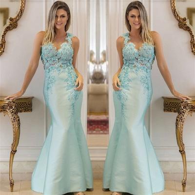 Correas perlas lentejuelas apliques vestidos de noche baratos | Vestidos de fiesta sin mangas de sirena sexy 2021_3