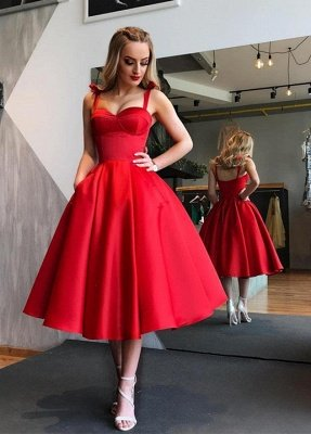 Gorgeous Sweetheart Red Short Prom Dress |  Tea-Length Homecoming Dress_1