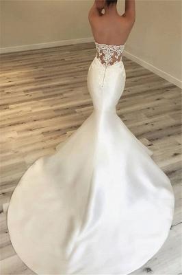 Elegante Schatz-Nixe-Satin-Brautkleider | Sexy Lace Open Back Brautkleider 2019 BC0628_3