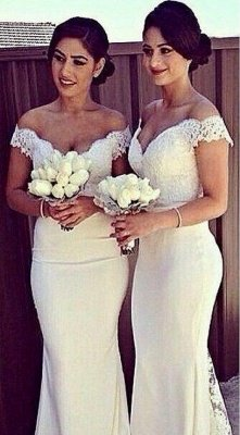 SELENE   Mermaid Off-shoulder Sweetheart Sheer Lace Appliques Prom Dresses_4